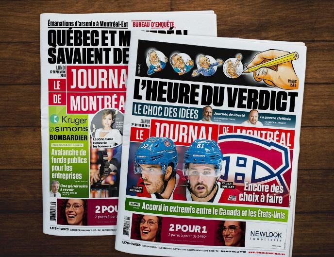 Une Journal de Montréal